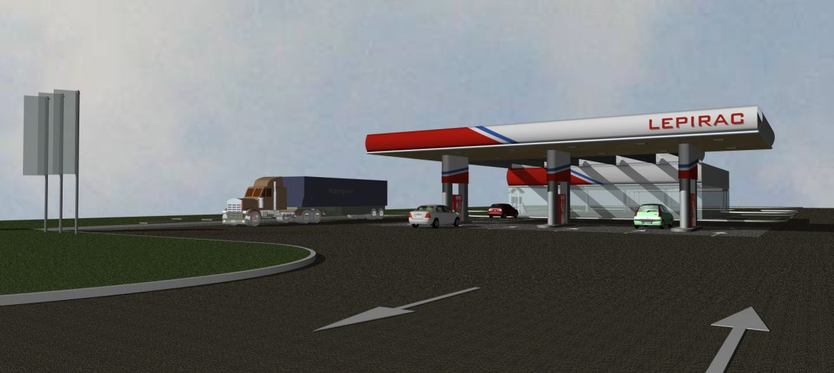 Benzinska postaja sa samouslužnom autopraonicom Lepirac, Bjelovar