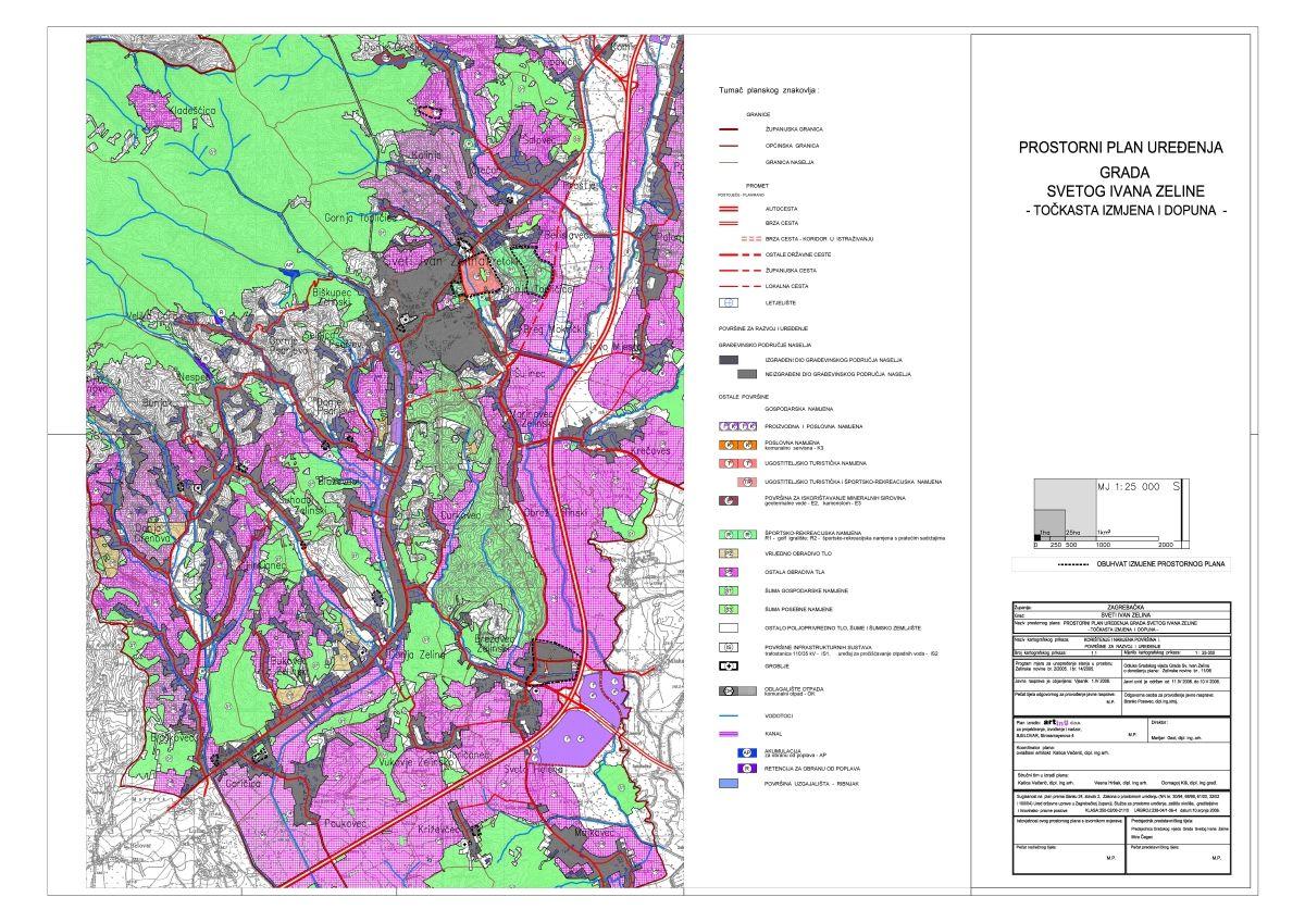 Prostorni plan uređenja Grada Svetog Ivana Zeline, točkasta izmjena i dopuna