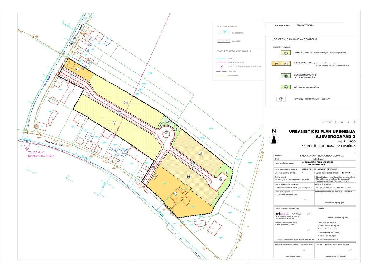Urbanistički plan uređenja Sjeverozapad 2, Bjelovar