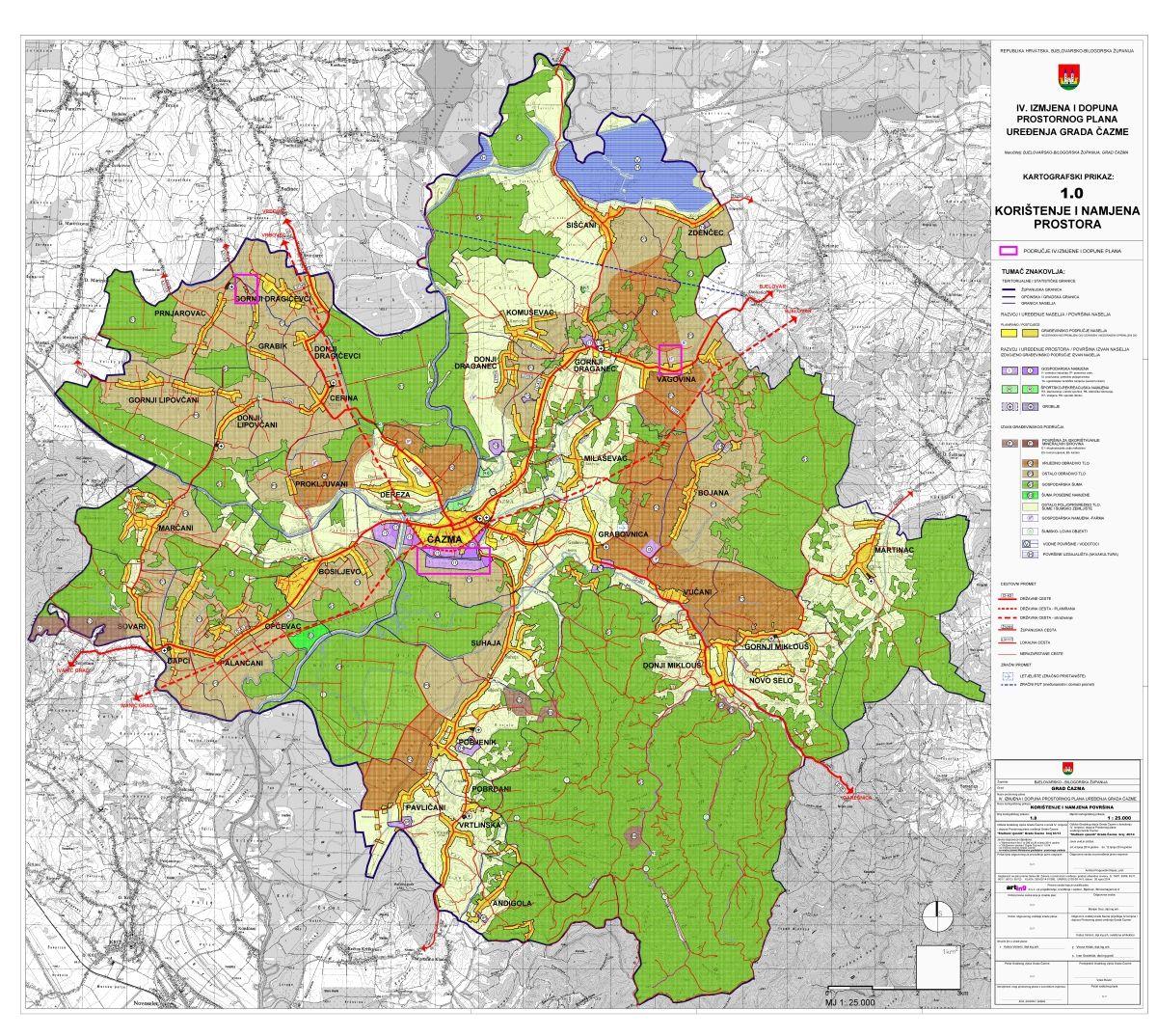 Prostorni plan uređenja Grada Čazme, IV. izmjene i dopune