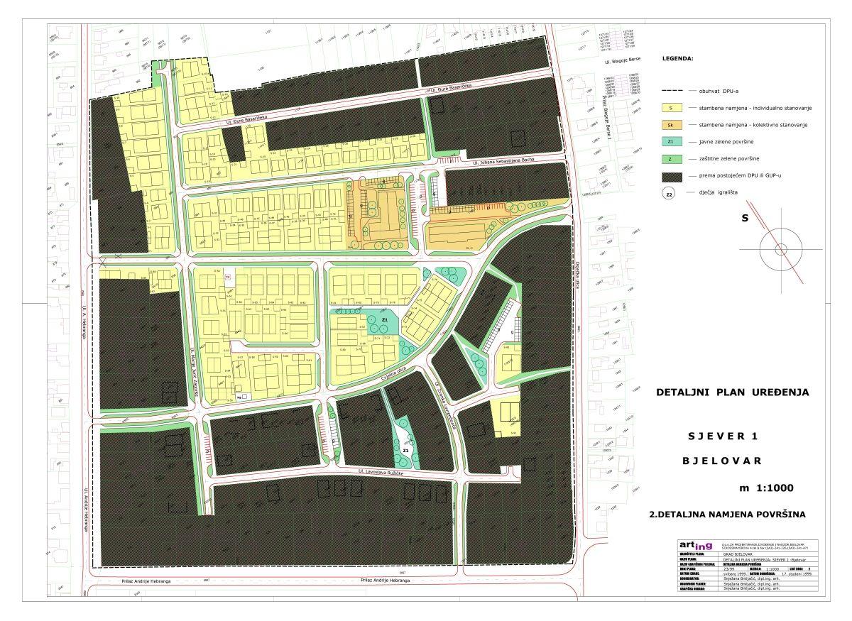 Detaljni plan uređenja Sjever I - 1. dio, Bjelovar