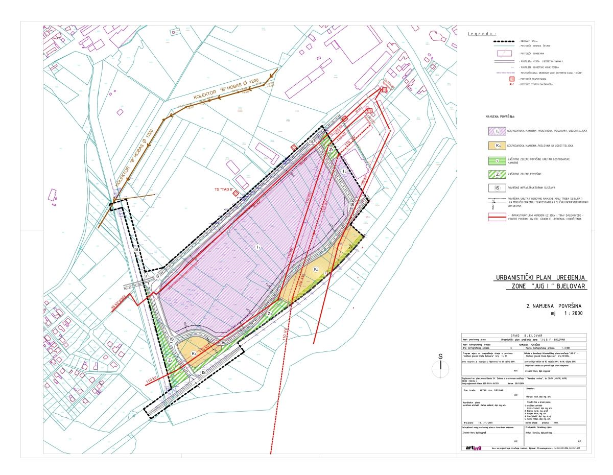 Urbanistički plan uređenja Jug I, Bjelovar