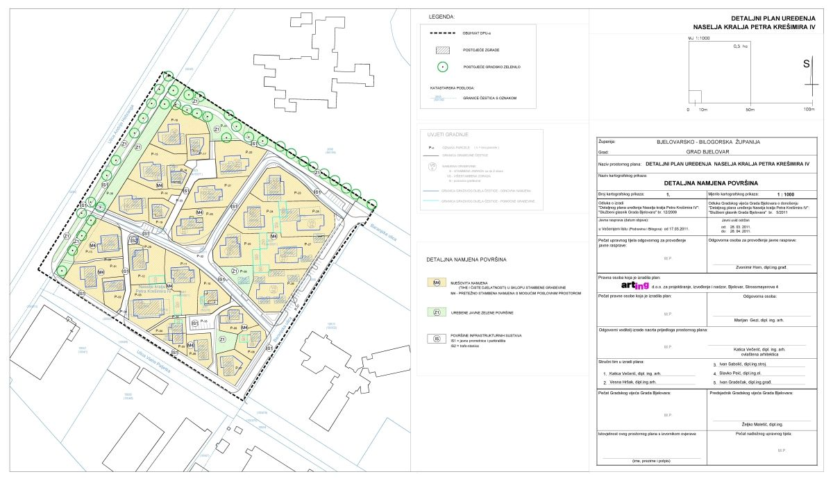 Detaljni plan uređenja Naselja kralja Petra Krešimira IV., Bjelovar