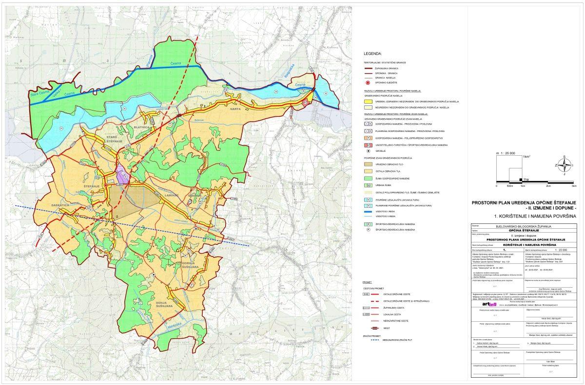 Prostorni plan uređenja Općine Štefanje, II. izmjene i dopune