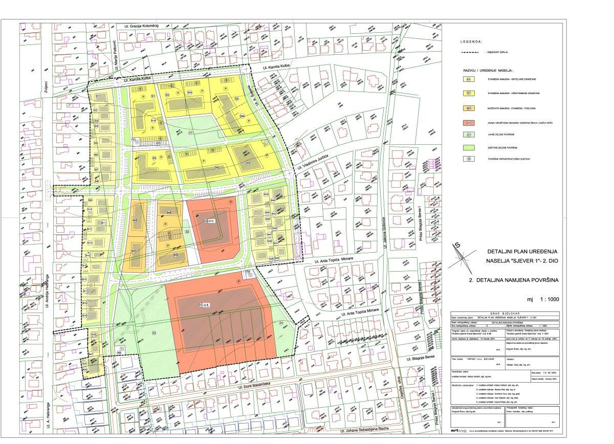 Detaljni plan uređenja Sjever I - 2. dio, Bjelovar
