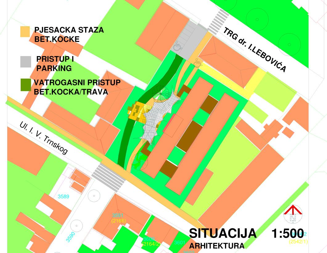 Projekt uređenja parka uz Obrtničku školu